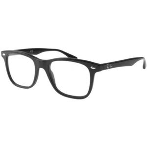 Ray-Ban Square Style Shiny Black W/Demo Lens